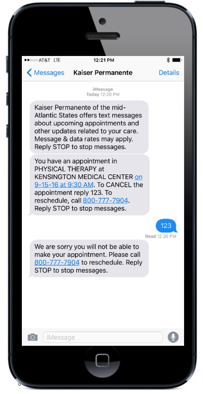 frequently asked questions about kaiser permanente text messages