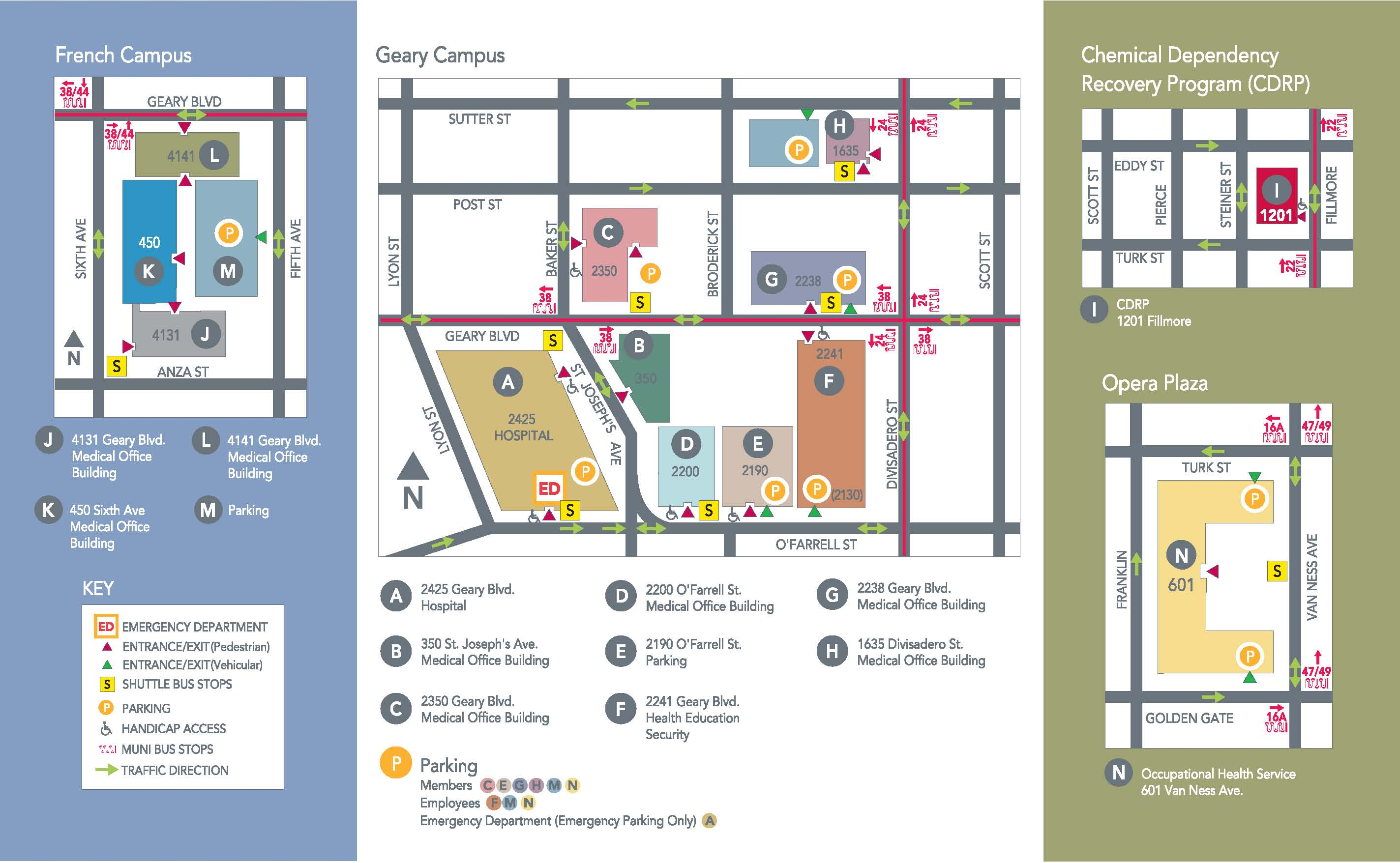 Kaiser San Leandro Campus Map.Kaiser Permanente Genetics Northern California